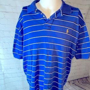 Polo by Ralph Lauren 2 Button Polo Shirt Blue XL